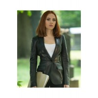 Captain America The Winter Soldier Natasha Romanoff Black Blazer