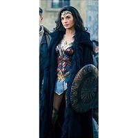 Wonder Woman Diana Prince Shearling Coat