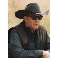 Kevin Costner Yellowstone John Dutton Black Vest