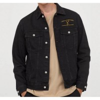 Yellowstone Dutton Ranch Denim Black Jacket