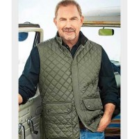 Yellowstone Kevin Costner Green Quilted Vest